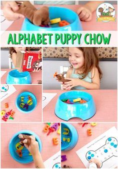 Alphabet Puppy Chow Game For Kids - Pre-K Pages
