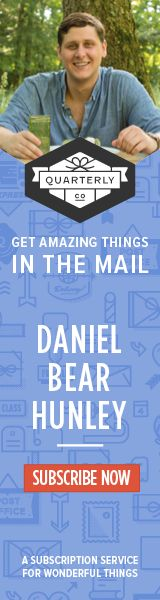 Like what Daniel Bear has been pinning? I'm putting together a special boxes curated with some of my favorite things. Check out Quarterly for the full run down. #DBH01