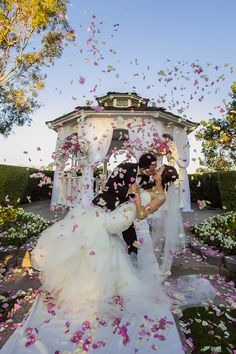 Every wedding should have a magical shot like this! View the full wedding here: http://thedailywedding.com/2016/01/27/pacific-palms-resort-angie-alex/