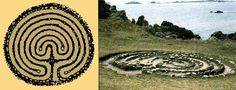 The mystery of the labyrinth Crop Circles, Ancient Symbols, Ancient Art, Labyrinth Maze, The Minotaur, Classical Mythology, World Religions, Animal Print Rug, Something To Do