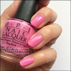 "OPI ""Two-Timing The Zones"" Gel polish from its 2017 Fiji Collection. Loving this pretty pink!!"