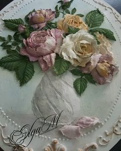 На данном изображении может находиться: 1 человек, цветок Floral Texture, Texture Art, Texture Painting, Plaster Crafts, Plaster Art, Peony Flower, Flower Art, Cold Porcelain Flowers, Sculpture Painting