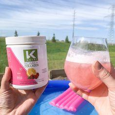The perfect summer drink just add BCAAs, vodka & soda for a yummy low carb drink! Low Carb Drinks, Keto Drink, Vodka Drinks, Raspberry Lemonade, Summer Cocktails, Refreshing Drinks, Amino Acids, Collagen, Soda