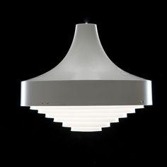 Pendant light (61-307) designed by Lisa Johansson-Pape for Stockmann-Orno (enameled metal), 1964.
