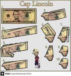 How to fold a cool hat Lincoln
