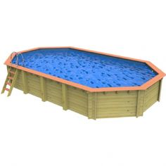 Wooden Swimming Pools Wooden Pool, Solar Cover, Pool Equipment, Above Ground Swimming Pools, Wooden Ladder, Wood Construction, Westminster, Poker Table, Outdoor Furniture