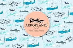 Vintage Aeroplanes by Ally Heart on @creativemarket