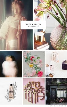 soft & pretty moodboard via Studio Meroe