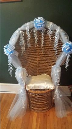 Baby Shower Wicker Chair   Rental Available