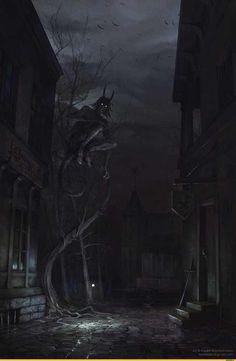 Dark Art by Vadim Baydashnikov Dark Fantasy Art, Fantasy World, Arte Horror, Horror Art, Creepy Images, Arte Obscura, Creepy Art, Monster Art, Dark Places