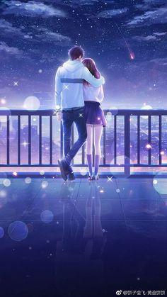 Over 3000 anime and manga lovers like our website, come and see . - Over 3000 anime and manga lovers like our website, come and see why … – - Couple Anime Manga, Couples Anime, Anime Cupples, Romantic Anime Couples, Anime Couples Drawings, Cute Couples, Otaku Anime, Anime Couples Hugging, Anime Angel