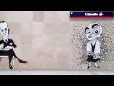 Caricaturas de António no Metro do Aeroporto