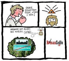 Październikowe komiksy polityczne dotyczyły niemal wyłącznie spraw lokalnych