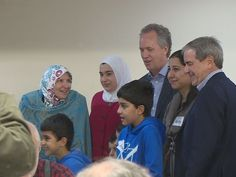 Sharing a meal and conversation, dozens gave a warm welcome to Syrian refugee families new to Louisville.
