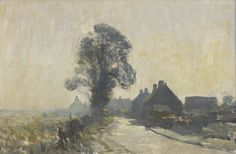 EDWARD SEAGO October Morning - Horning, Norfolk Oil on board Signed (lower left) 20 x 30 ins Provenance: Blair Laing Gallery, . Scenery Paintings, Mountain Paintings, Cool Paintings, Beautiful Paintings, Watercolor Landscape, Landscape Art, Landscape Paintings, Watercolor Paintings, Watercolours