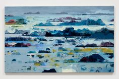 Slow Motion, oil on canvas by Jane Human. Still Water collection after working around the coastline of Jersey.