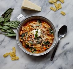 30 Minute Lasagna soup -lollipopsicle