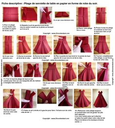 Fold paper towel in the form of an evening dress, fold towel . Foldable paper towel in the form of an evening dress, foldable towel … – Marina Boillaud – Paper Napkin Folding, Paper Napkins, Origami Dress, Origami Paper, Table Origami, Napkin Origami, Origami Vestidos, Dress Shapes, Decoration Table