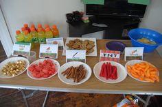 Minecraft Birthday food labels
