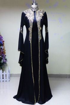 Arabic FatimaBi Moroccan Kaftan Front Open Heavy Hand Embroidered Floor Length | Clothing, Shoes & Accessories, Cultural & Ethnic Clothing, Middle East | eBay!