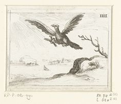 Congratulations to World Champion Germany! - Adelaar met jong, Jacques Callot, François Langlois, 1625 - 1629