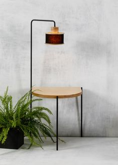 Fu Mod Sid Rb Fu Mod Sid Rb d Mod dModGr Wooden and Metal tables Side table with embedded lamp The ideal solution for next to your bed nbsp hellip side table Wooden Tables, Metal Tables, Round Side Table, Lampshades, Table Furniture, Bedding, Design, Home Decor, Bedroom