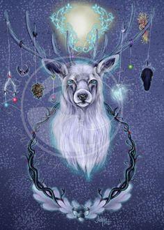 The Greenman, Cernunnos/Herne the Hunter...Wylde Hart By Artist Ash Evans NEW...