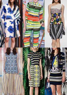 Resort 2015   Catwalk Print  Pattern Trend Highlights Chloé / Christian Siriano / Christian Dior / Tia Cibani / Nicole Miller / Just Cavalli