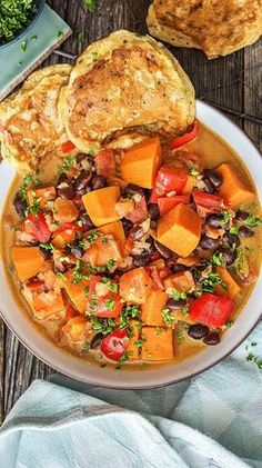 Caribbean Sweet Potato and Coconut Stew Recipe Hello Fresh- Karibischer Süßkartoffel-Kokos-Eintopf Rezept Salmon Recipes, Lunch Recipes, Mexican Food Recipes, Italian Recipes, Vegetarian Recipes, Healthy Recipes, Ethnic Recipes, Vegetarian Lifestyle, Crab Recipes