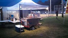 2014 Hot Dog Cart  and Concession Stand: 3/3/2015 Sandusky, Ohio - 2014 Hot Dog Concession stand, with snow cone maker, pop corn maker, tables, 6'x 12' trailer to haul all equiptment with health