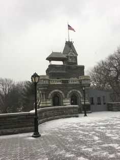 Little castle in Central Park. New York City USA