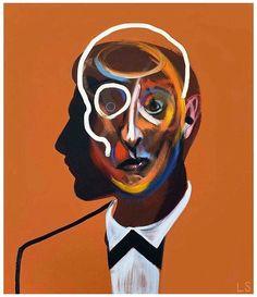 "🍋BLUE LEMONADE 🍋 on Instagram: ""@loribellespirovski LORIBELLE SPIROVSKI, Homme 56, 2018, Oil & Acrylic on Canvas. #loribellespirovski #thebluelemonade @the.bluelemonade"""