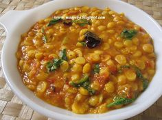 Maayeka - Authentic Indian Vegetarian Recipes: Chana Daal Fry (Bengal Gram Fry)