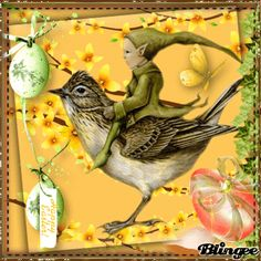 happy easter text green Pictures [p. Green Pictures, Animation, Happy Easter, Goth, Poster, Clip Art, Fantasy, Bird, Fun