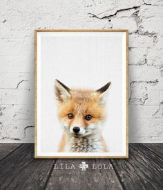 Hey, I found this really awesome Etsy listing at https://www.etsy.com/listing/502292295/fox-cub-print-woodlands-nursery-decor