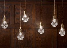Crystal Bulb - contemporary - pendant lighting - Lee Broom=crystal light bulbs- love the mix of traditonal with a modern casual twist Light Decorations, British Design, Contemporary Pendant Lights, Pendant Lighting, Home Lighting, Contemporary Pendant, Bulb, Pendant Light, Crystal Light