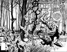 Swamp Thing #1 Cover Art by Bernie Wrightson