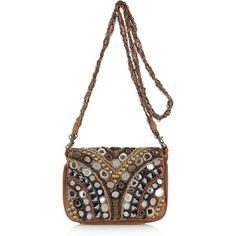 Antik Batik Orelia embellished shoulder bag ($185) via Polyvore