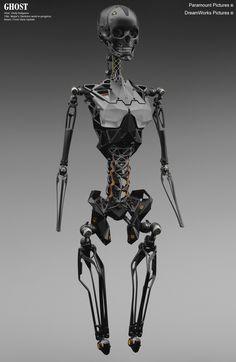 Ghost In The Shell — Vitaly Bulgarov Futuristic Armour, Futuristic Art, Futuristic Technology, Cyberpunk Character, Cyberpunk Art, Gato Anime, Sculpture Metal, Humanoid Robot, 3d Cnc