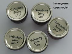 homegrown countrygirl: Chokecherry Chokeberry Jelly
