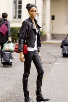 Leather #jacket and #pants.
