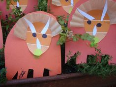 Triceratops Craft with Paint Chips