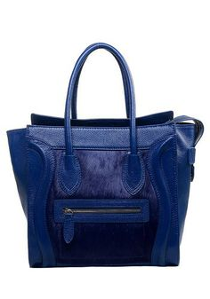 4c49fe97df51 Vanessa Leather Tote Blue With Blue Horse Fur for  119 Designer Inspired  Handbags