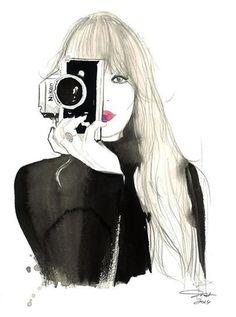 девушки, фотоаппарат
