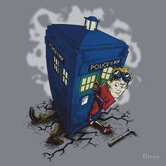 Dr. Horrible lands the Tardis on Captain Hammer