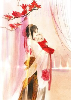Ảnh Anime Art Fantasy, Anime Love Couple, Cute Anime Couples, Stock Design, Chinese Drawings, Familia Anime, Anime Family, Painting Of Girl, Fantasy Paintings