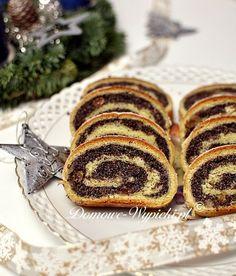 Makowiec zawijany Xmas Food, Muffin, Food And Drink, Breakfast, Cake, Ethnic Recipes, Sweet, Poppy, Bakeries