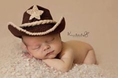 OMG I love this pic!! Baby Cowboy Hat and Boots Chocolate Brown And by conniemariepfost, $50.00