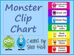 Monster Clip Chart Monster Theme Classroom, Disney Classroom, Classroom Themes, Behavior Clip Charts, Behaviour Chart, Bulletin Board Design, Bulletin Boards, Fourth Grade, Second Grade