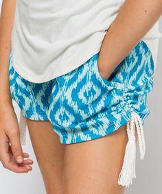 Great Boho Beach Style Caribbean Geometric Gone Surfin Shorts #Tween #Fashion #zulilyfinds